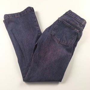 GAP Long and Lean Pink Blue Wash Jeans Sz 4